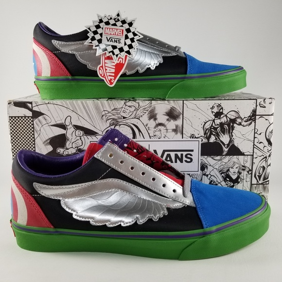 3096bd7c93f942 VANS X Marvel Old Skool Avengers Men s Sneakers 10
